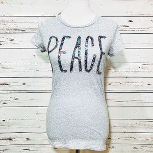{AMERICAN EAGLE} Floral Peace Tee